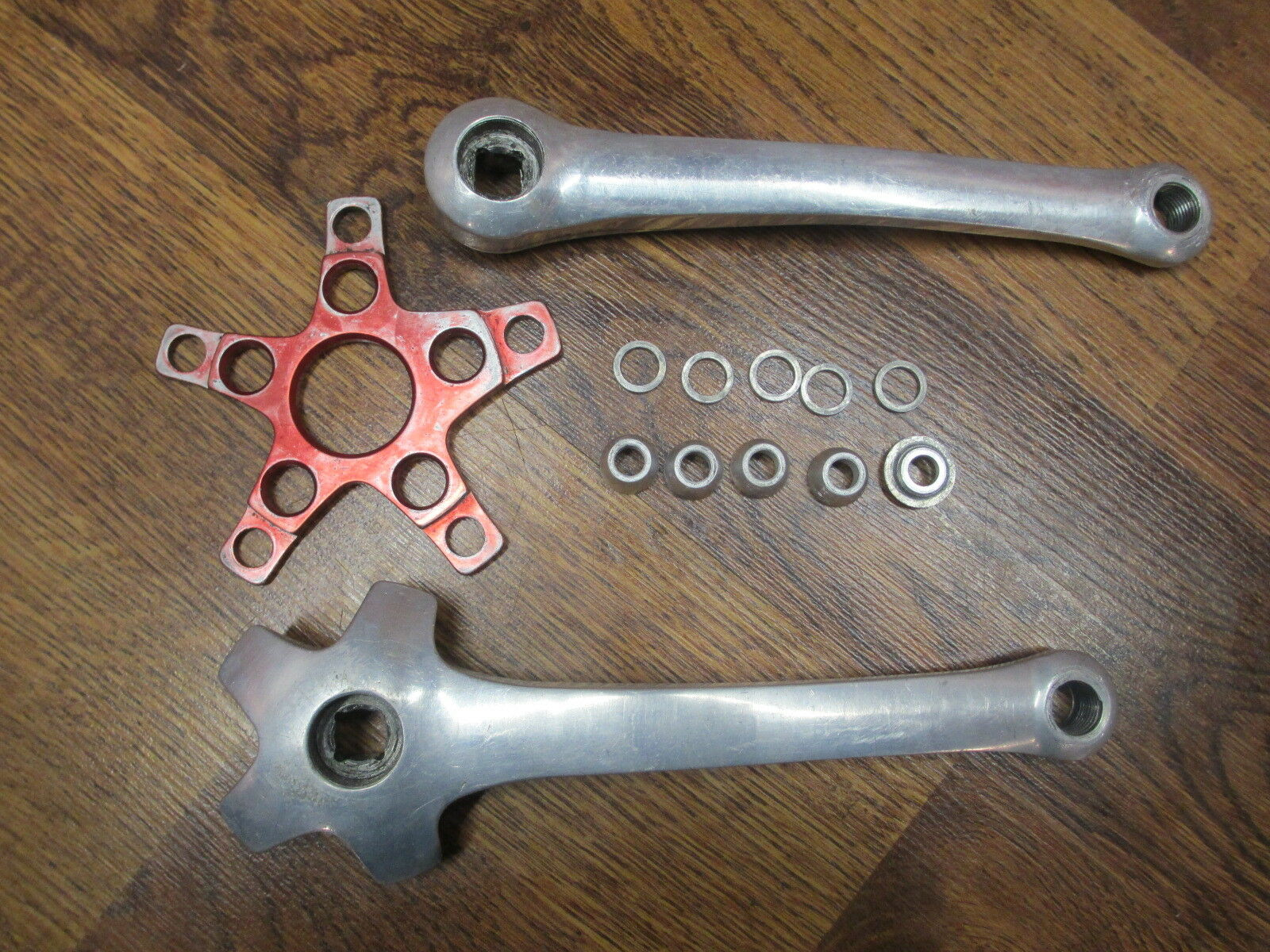 VINTAGE COOK BROS RACING 175 64  94 BCD SINGLE DOUBLE TRIPLE E TYPE CRANK ARM SET  most preferential