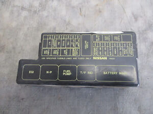 fuse box in nissan pathfinder    fuse       box    cover 3 3 v6    nissan       pathfinder    96 97 98 ebay     fuse       box    cover 3 3 v6    nissan       pathfinder    96 97 98 ebay