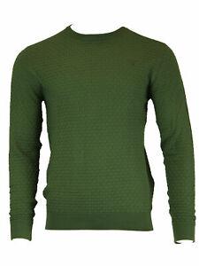 GANT-Men-039-s-Kelly-Green-O1-Cotton-Texture-Crew-88543-Size-Medium-NWT