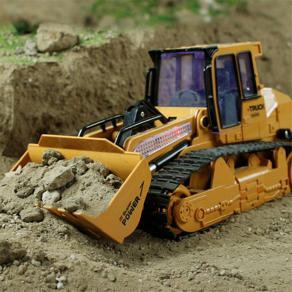 Excavator Remote Radio Control Channel Metal Hydraulic Rc Truck Construction Toy For Sale Online Ebay