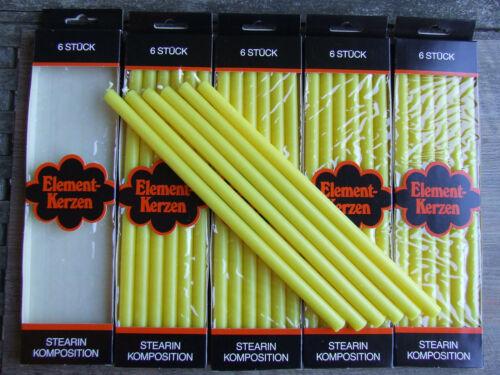 30 Elementkerzen für Elementleuchter Farbe Gelb. Nagel-Quist-BMF-WMF
