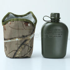 850ml Army Style Military Patrol Water Bottle Canteen Camping Hiking Cycling