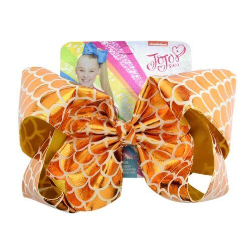 Cute JOJO SIWA Large Bows Rainbow Laser Bow-knot Print Grosgrain Ribbon Hair