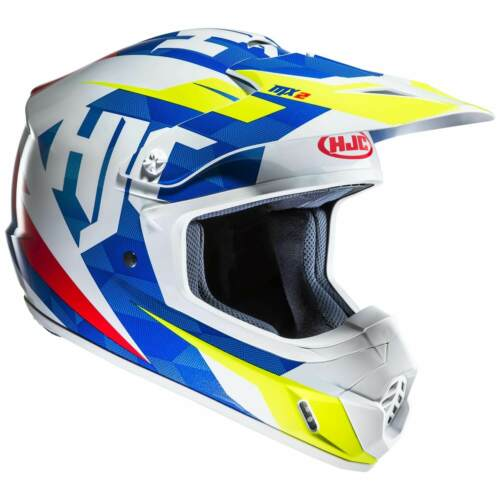 HJC CS-MX II DAKOTA MOTO OFF-ROAD//Crosshelm-BLU BIANCO GIALLO