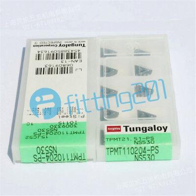 10PCS//BOX Tungaloy TPMT110204-PS NS530 TPMT21.51-PS Cermet Inserts New In Box