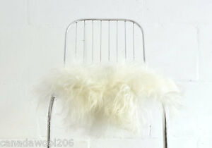 Image Is Loading Sheepskin Chair Cover White Sheepskin Chair Throw White
