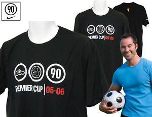 Neue-retro-NIKE-90-Premier-Koerbchen-Baumwoll-T-Shirt-Baumwollhemd-Schwarz-gross