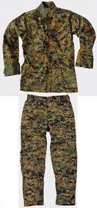 US-Marines-USMC-MARPAT-Woodland-Digital-Tarnanzug-Hose-Jacke-L-Large-Regular