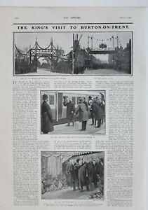 1902 Aufdruck Könige Besuchen Sie Sich Burton Trent Barton & Walton Station