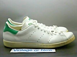 Details about Men's VTG 80's Adidas Originals Stan Smith White Green sz 11.5