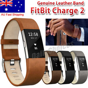 Replacement-Genuine-Leather-Wrist-Watch-Band-Strap-For-Fitbit-Charge-2-Wristband