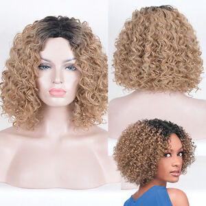 Details about Women's Short Afro wig Kinky