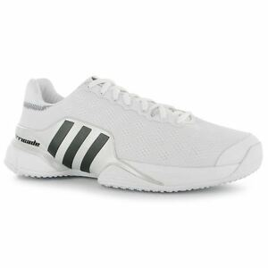 bastante agradable 38e85 fbd01 Details about ADIDAS BARRICADE GRASS COURT TENNIS SHOE WHITE 2019