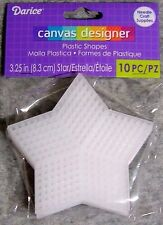 "Darice Needlecraft Supplies Plastic Canvas Shapes 10 Pack - 3.25"" (8.3cm) Stars"