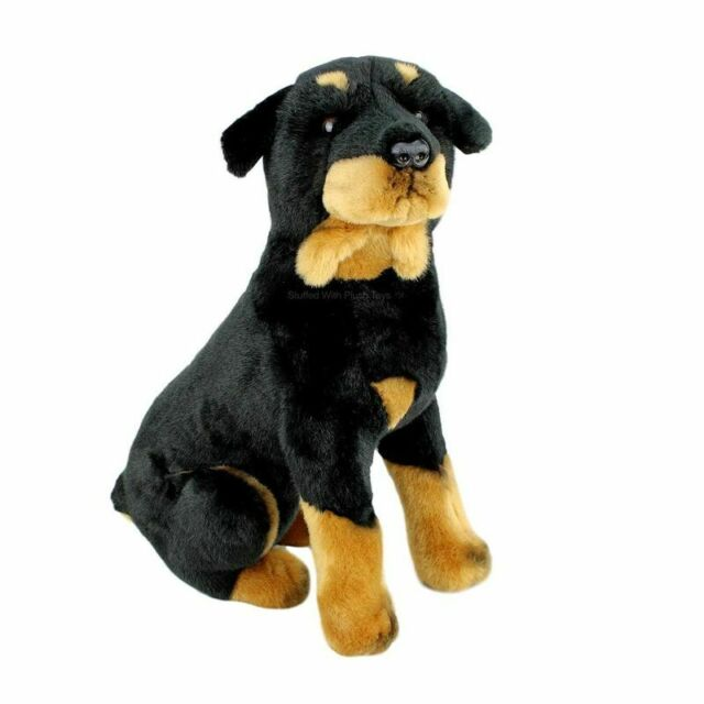 "Rottweiler rotty dog soft plush stuffed toy Razor 16""/40cm by Bocchetta NEW"
