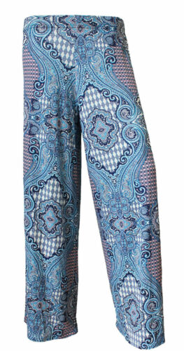 New Plus Size Womens Floral Print Ladies Wide Leg Palazzo Trousers UK 8-26