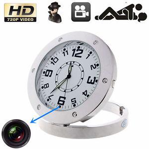 HD 720P Table Clock Camera Motion Detect Mini DV DVR Audio Digital Video Record