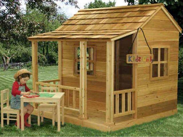Outdoor Living Today 6x6 Little Cedar Playhouse LCP66