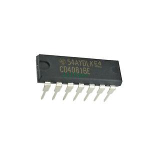 2pcs-CD4081BE-DIP14-CD4081-Quad-2-Input-Or-And-Gate-Original-DIP-14-TI-Chip-IC