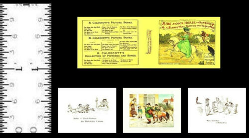 1:12 SCALE MINIATURE BOOK BABES IN THE WOOD RANDOLPH CALDECOTT