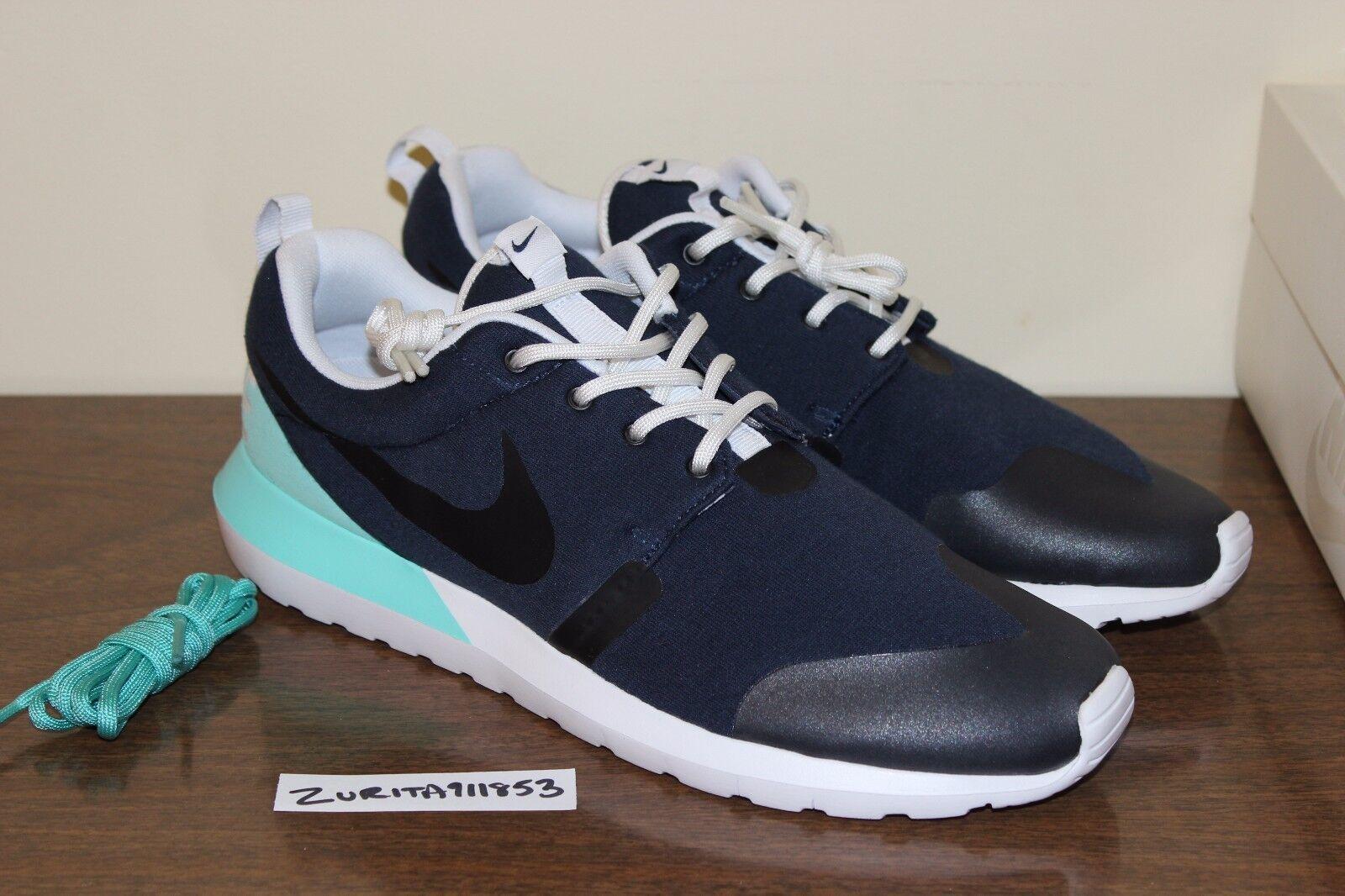 Nike Air Roshe Run NM W SP Obsidian Bleached Turquoise 652804-403 Tech Fleece