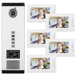 Video Türsprechanlage Türklingel Intercom mit 7/'/' Monitor für 1-Familienhaus