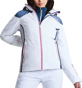 Dare2B Prosperity Womens Skiing Jacket Blue Waterproof Winter Sports Coat Snow