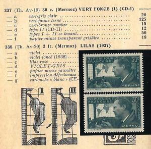 VARIETE-337-TYPE-I-et-TYPE-II-neufs-MERMOZ-Qualite-luxe