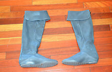 $495 BCBG BCBGMAXAZRIA Women Hughes Over The Knee Flat Boots Grey Sz 9.5 Pirate