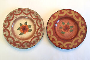 Image is loading Set-2-Casa-Cristina-Home-Tuscan-Collection-CBK- & Set 2 Casa Cristina Home Tuscan Collection CBK Salad Dessert Plates ...