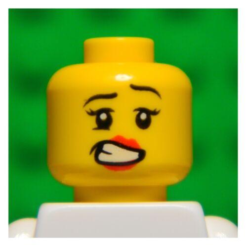 LEGO Testa Doppio Lato Singolo # # Ragazza Principessa Donna Labbra #1349 Donna