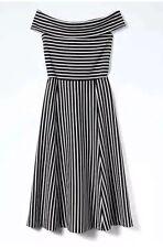 d8519ec22029a item 4 NWT Banana Republic Black   White Stripe Off-Shoulder Midi Dress In  Size 16T -NWT Banana Republic Black   White Stripe Off-Shoulder Midi Dress  In ...