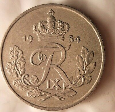 Norway Bin #3 Excellent Vintage Coin Free Shipping 1954 NORWAY 10 ORE