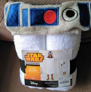 R2-D2-Star-Wars-Hooded-Bath-WrapTowel-Great-for-Home-Beach-or-Pool-Disney-NEW