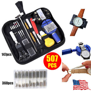147pcs-Watch-Repair-Tool-Kit-Watchmaker-Back-Case-Opener-Remover-Spring-Pin-Bars