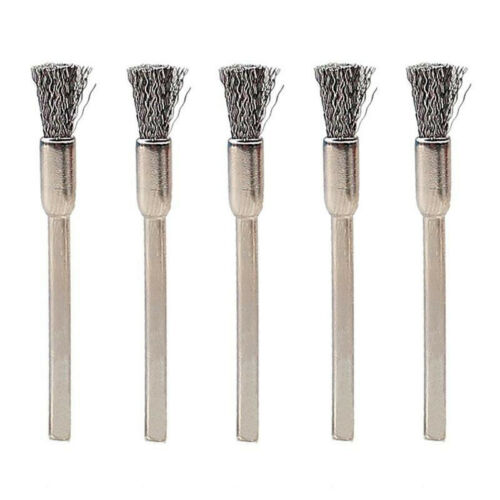 New 3mm Shank Steel Wire Set Dia 15mm Cup Brushes Wheel for Power Rotary Tool