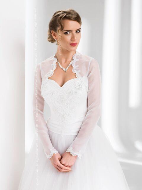 Wedding New Top Organza Bolero/Shrug/Jacket  Long Sleeved S M L XL XXL