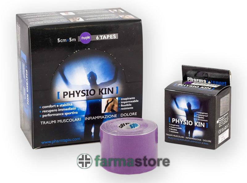 6 rossooli kinesio marca PHYSIO KIN viola taping neuromuscolare kinesiologico