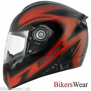 269802af Shark RSI Xena Red/Orange KOA Motorcycle Full Face Helmet Size XS ...