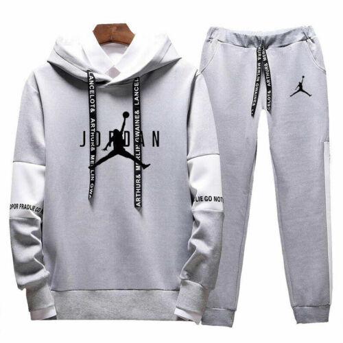 Men/'s Tracksuit Set Sportswear Hoodies Pants Jogging Suit Hip Hop Sweatsuit UK