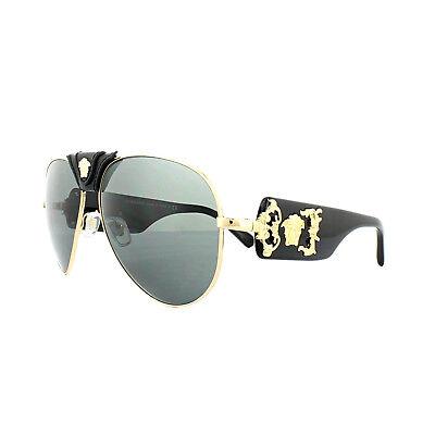 5d3d7bf952e0f Versace Sunglasses 2150Q 100287 Gold Dark Grey 8053672135817