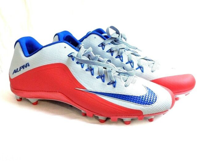 c634a23ab Nike Alpha Pro 2 TD Low Football Cleats Men s Size 15 Red Blue Silver  729445-021