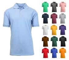 Men Polo Shirt Size S M L XL XXL New Standard Neck Classic NWT Uniform Lounge
