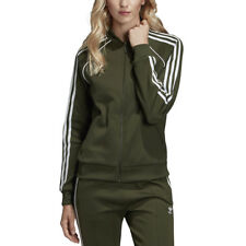 Adidas Originals Women's SST Track Top Jacket Night Cargo Green DH3166 NEW!