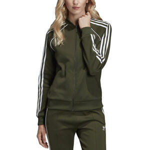 Adidas-Originals-Women-039-s-SST-Track-Top-Jacket-Night-Cargo-Green-DH3166-NEW