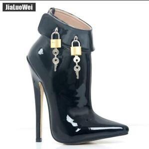 Womens  Ballet Super High Heel Ankle Boots Stiletto Nightclub Stileto Shoes Sz