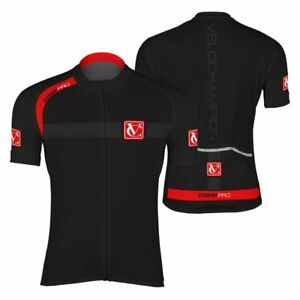 VeloChampion Cycling Top Lightweight VERANO Short Sleeve Jersey Black Breathable