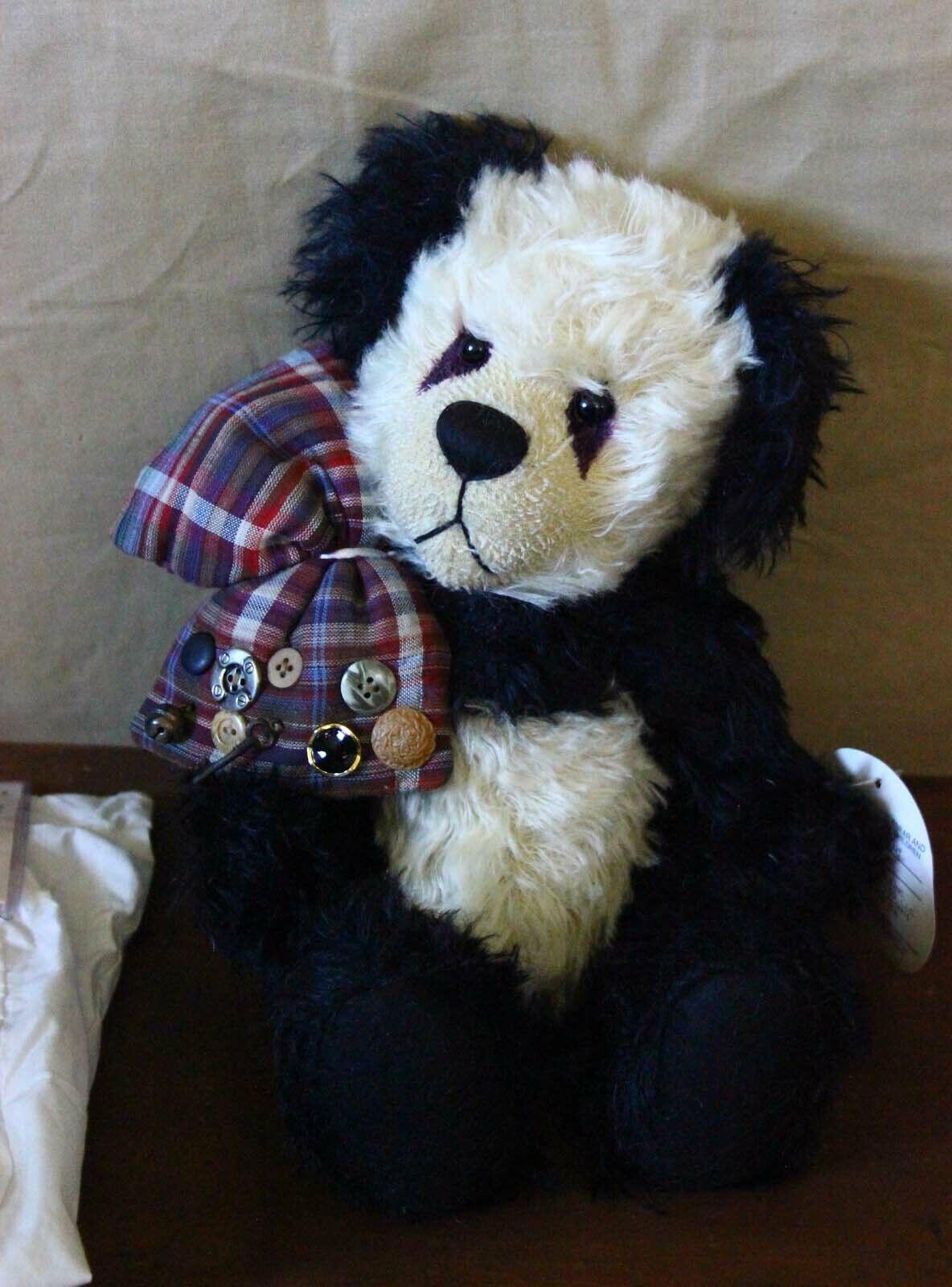 Jackie Melerski Bear Essentials Artist Mohair Teddy Bear Panda 13