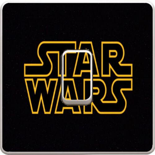 Star Wars Logo Sign Light Switch Vinyl Sticker Decal for Kids Bedroom #167