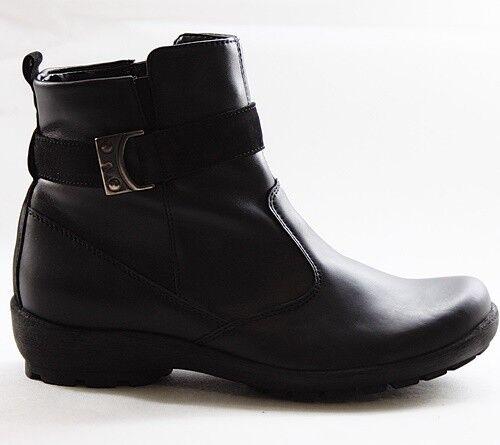 Bosque alfil señora botines botines botines cálidos forro Zapatos Cuero Negro 589816-668-001  en venta en línea